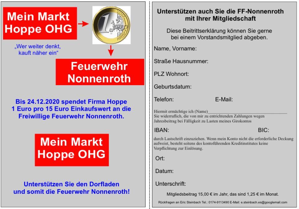 """""""Mein Markt Hoppe"""" unterstützt Feuerwehr"""