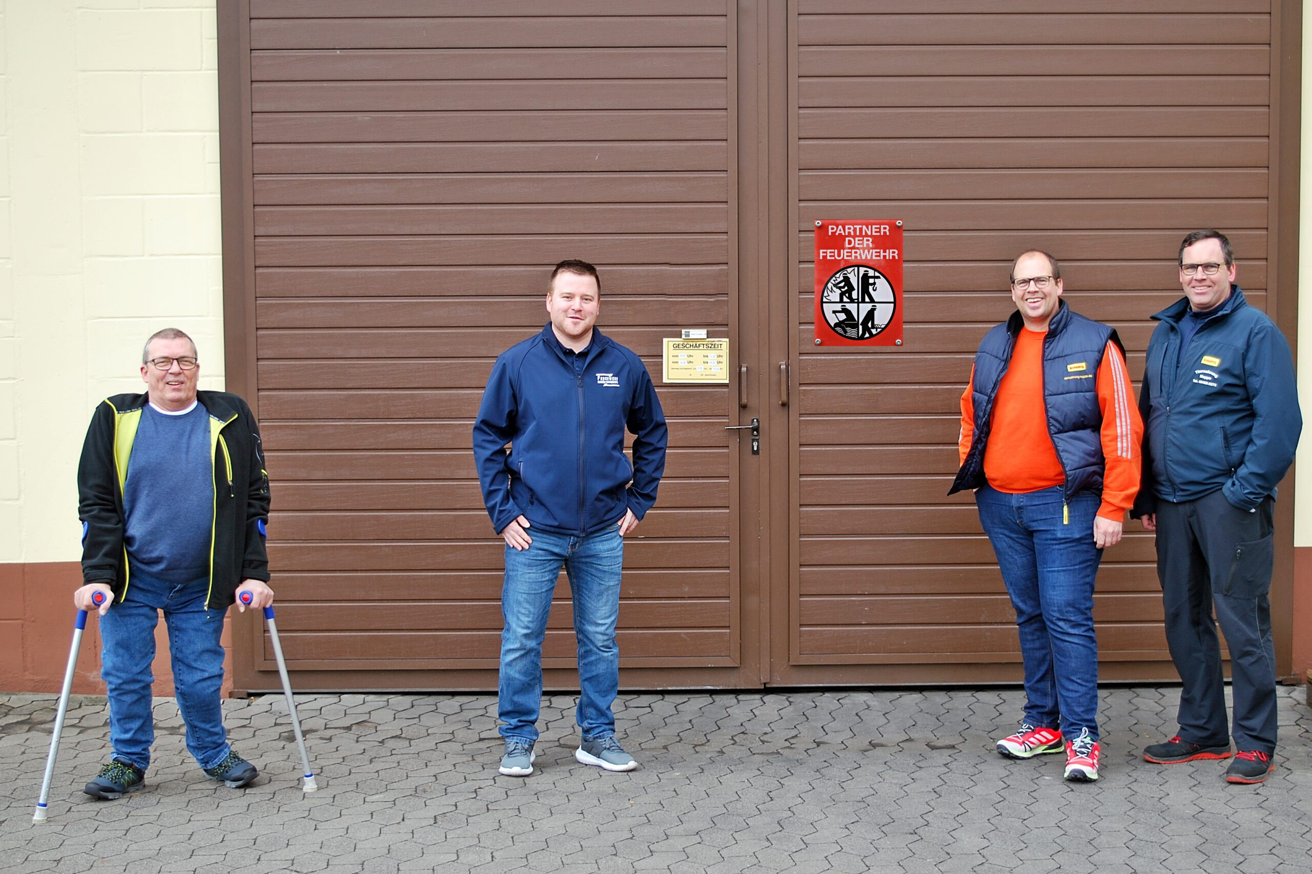 Feuerwehrverein freut sich über Spende von 1150 Euro durch Familienbetrieb Hoppe